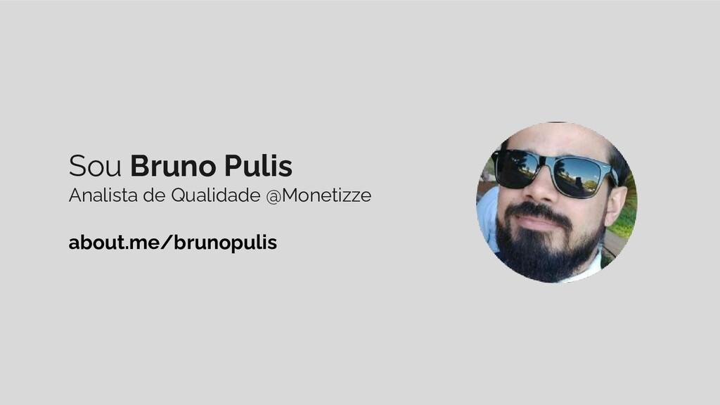 Sou Bruno Pulis Analista de Qualidade @Monetizz...