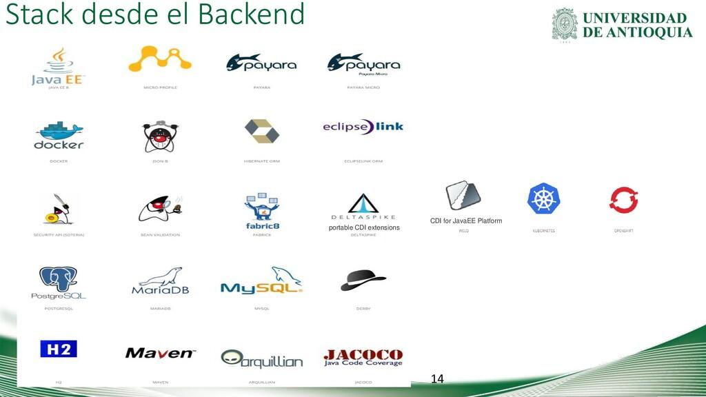 Stack desde el Backend 14 portable CDI extensio...