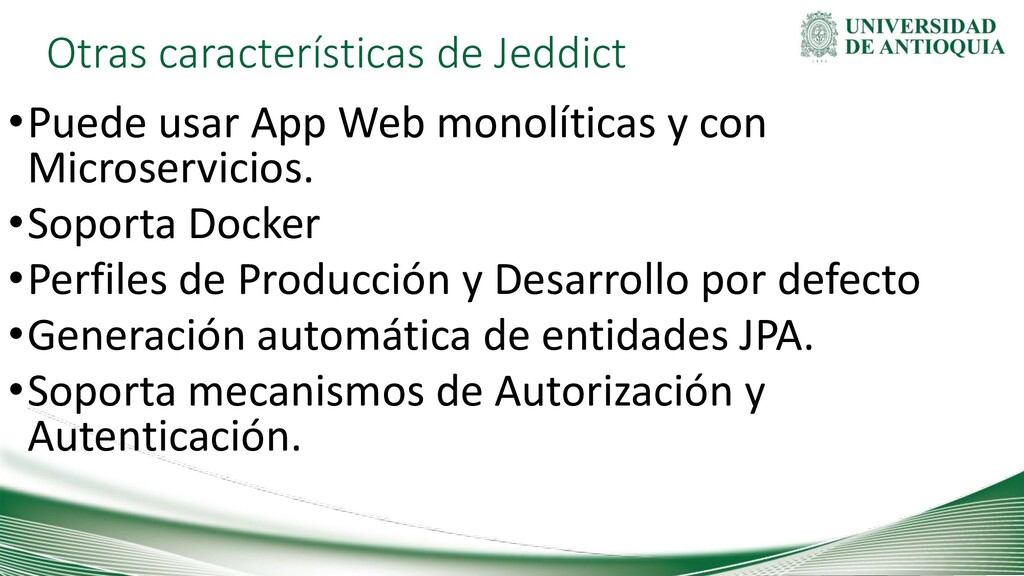 Otras características de Jeddict •Puede usar Ap...