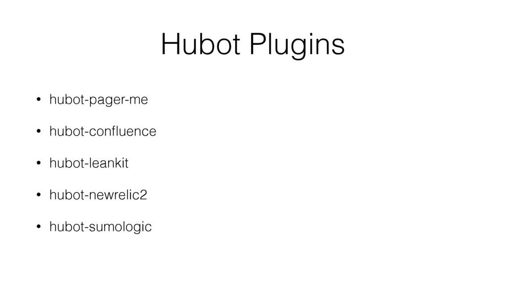 Hubot Plugins • hubot-pager-me • hubot-confluenc...