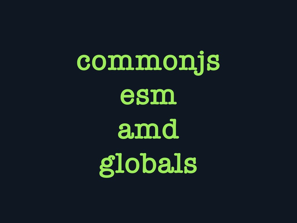 commonjs esm amd globals