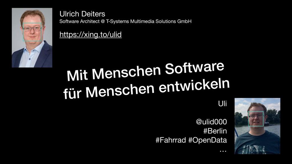 Mit Menschen Software für Menschen entwickeln U...