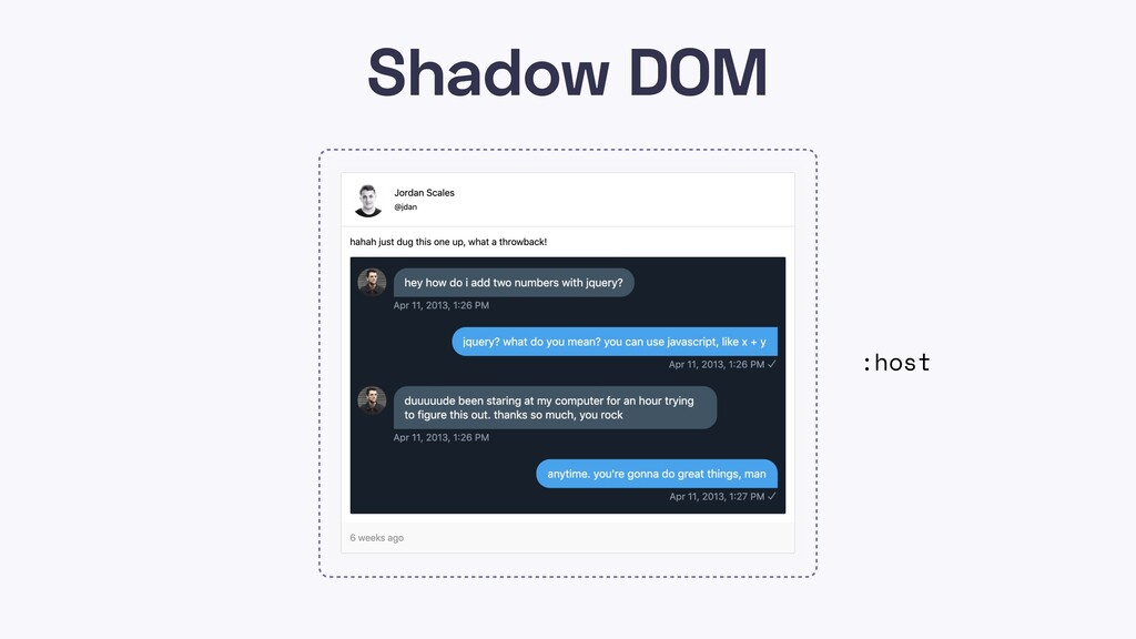 Shadow DOM :host
