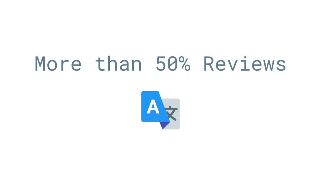More than 50% Reviews