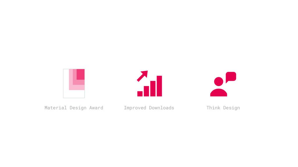 Material Design Award Improved Downloads Think ...