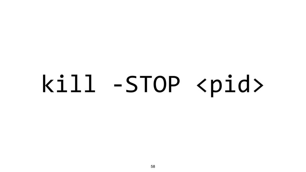 kill -STOP <pid> 58