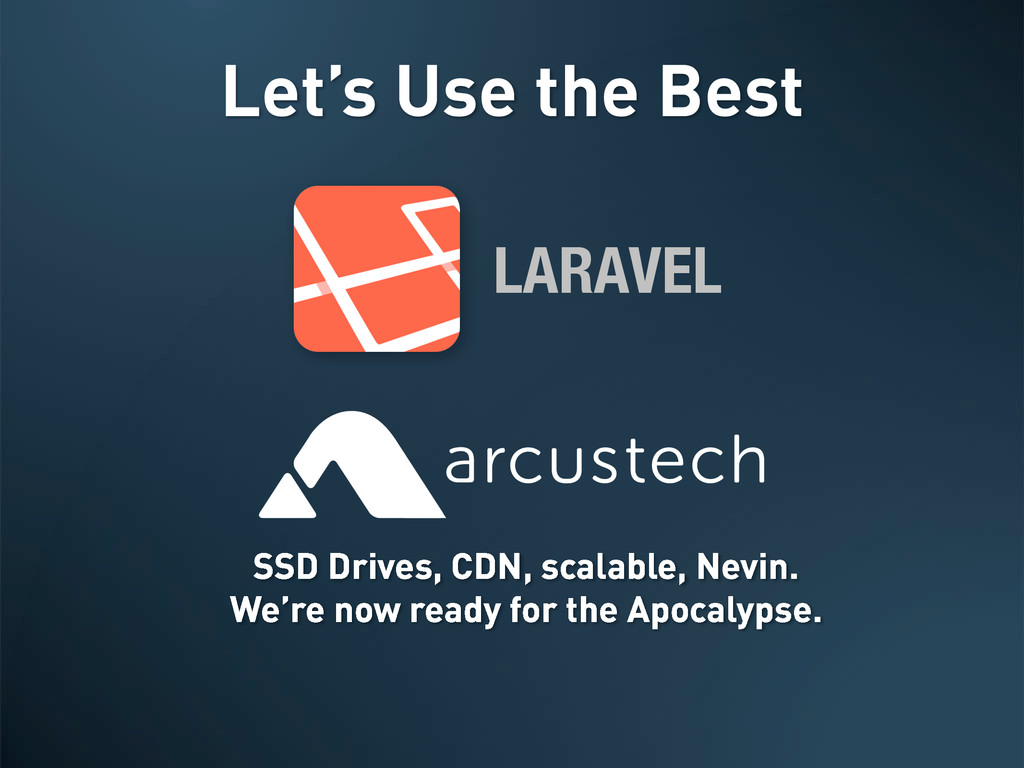 Let's Use the Best LARAVEL SSD Drives, CDN, sca...