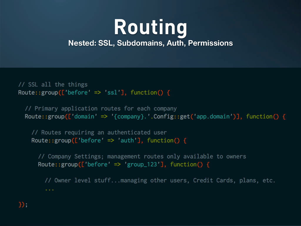 Routing Nested: SSL, Subdomains, Auth, Permissi...