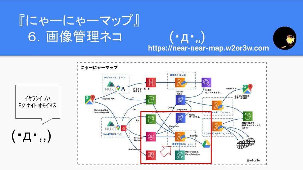 『にゃーにゃーマップ』  6.画像管理ネコ (・д・,,) https://near-near...
