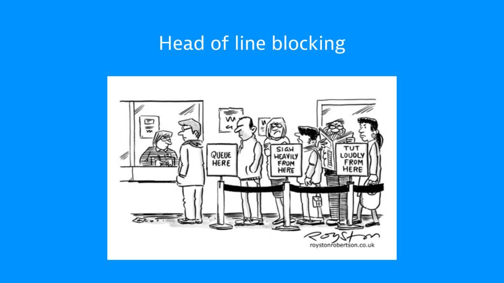 Head of line blocking