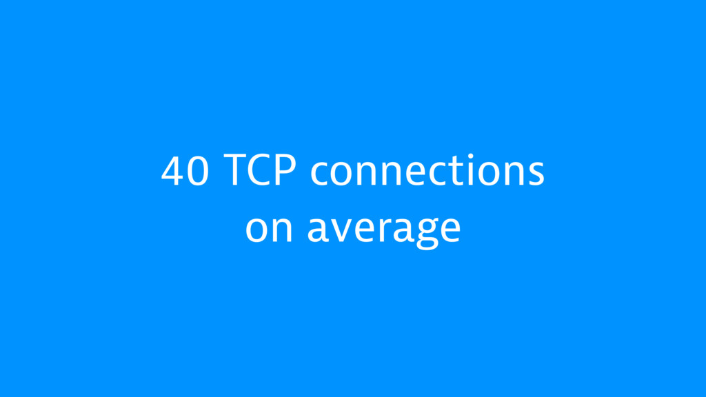 40 TCP connections on average