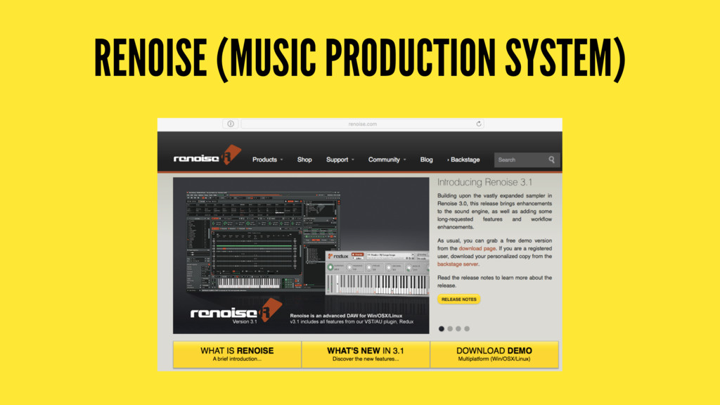 RENOISE (MUSIC PRODUCTION SYSTEM)