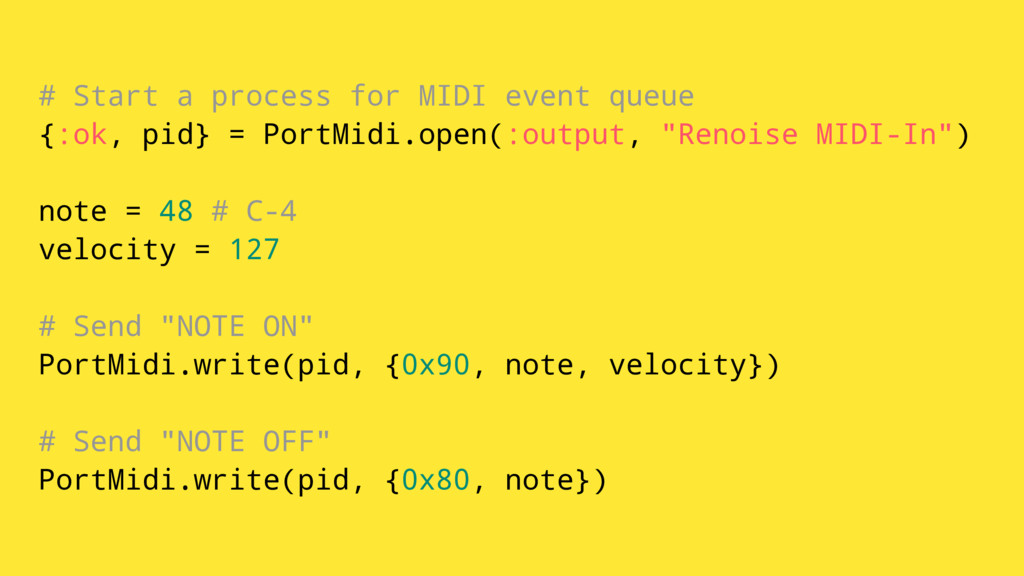 # Start a process for MIDI event queue {:ok, pi...