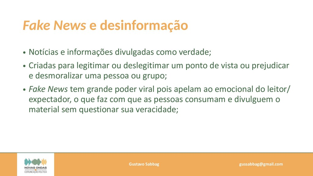 Gustavo Sabbag   gussabbag@gmail.com   Fake New...