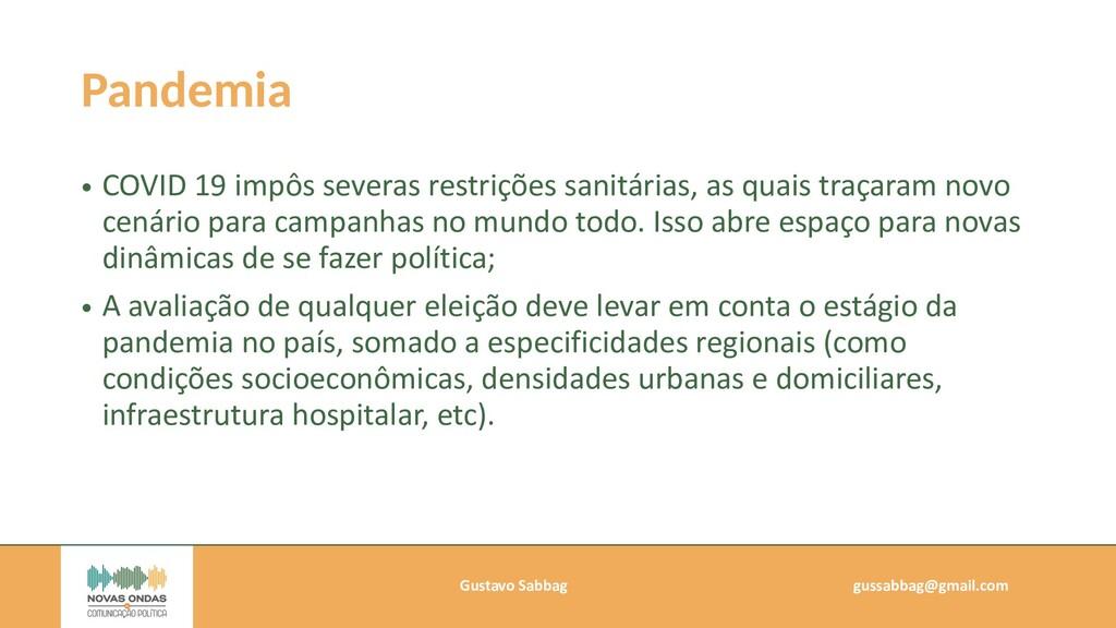 Gustavo Sabbag   gussabbag@gmail.com   Pandemia...