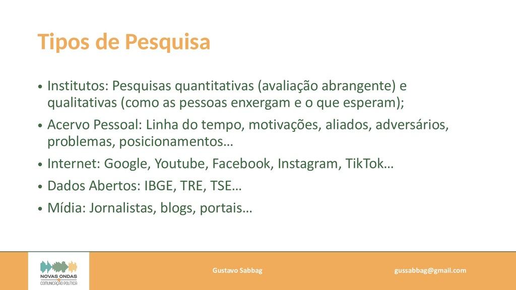 Gustavo Sabbag   gussabbag@gmail.com   Tipos de...
