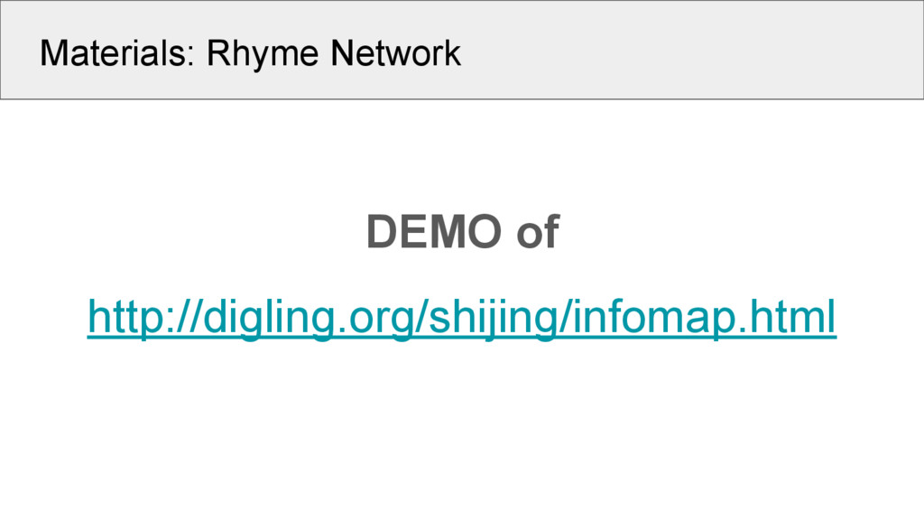 Materials: Rhyme Network DEMO of http://digling...