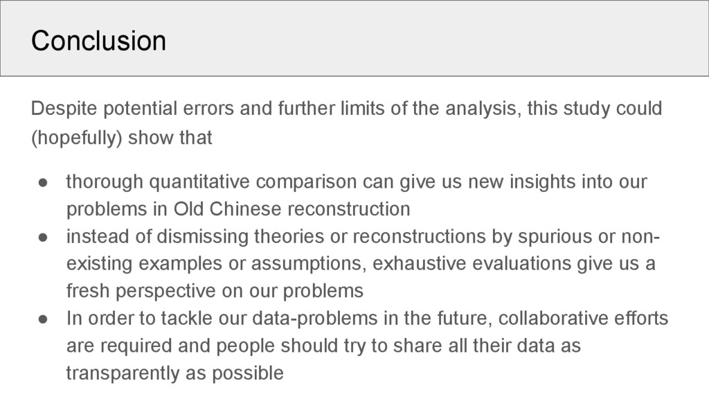 Conclusion Despite potential errors and further...