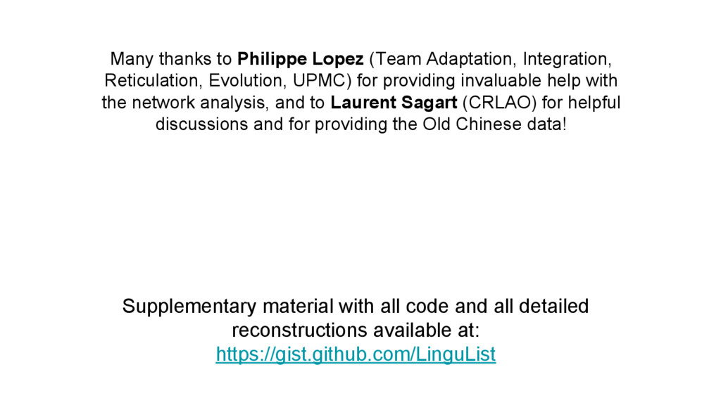 Many thanks to Philippe Lopez (Team Adaptation,...