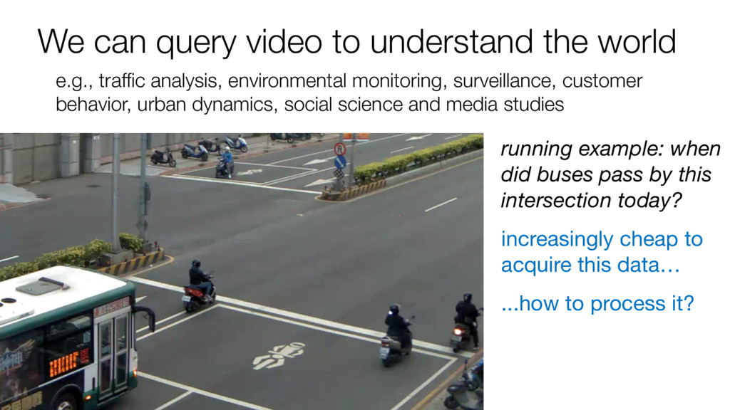 We can query video to understand the world e.g....