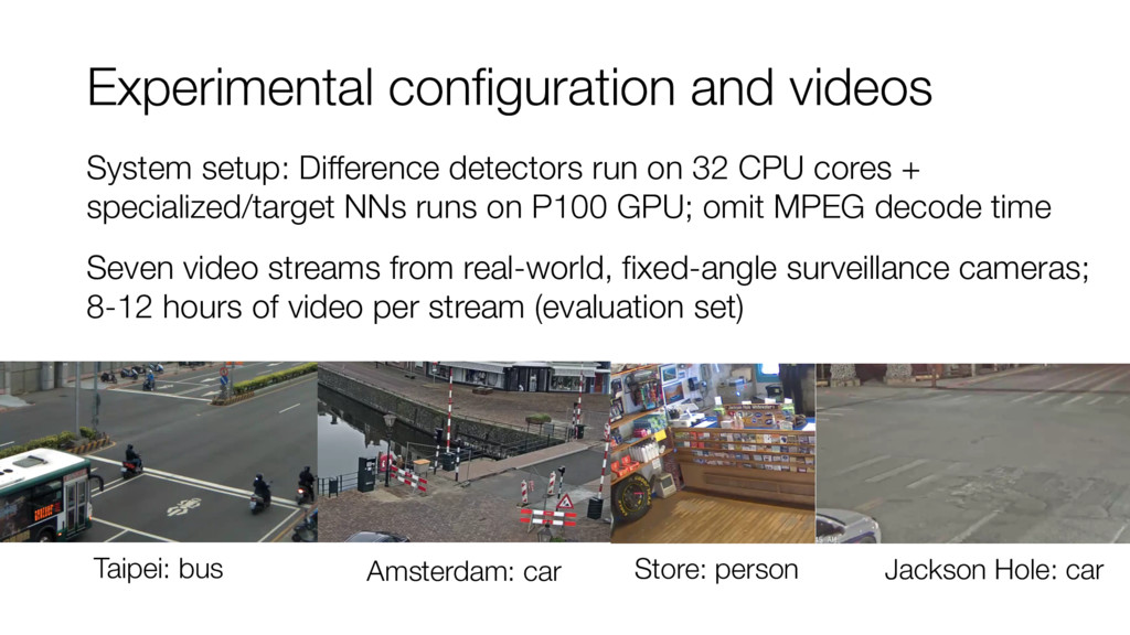 Experimental configuration and videos System se...