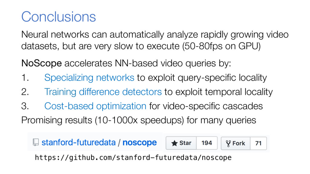 Conclusions Neural networks can automatically a...