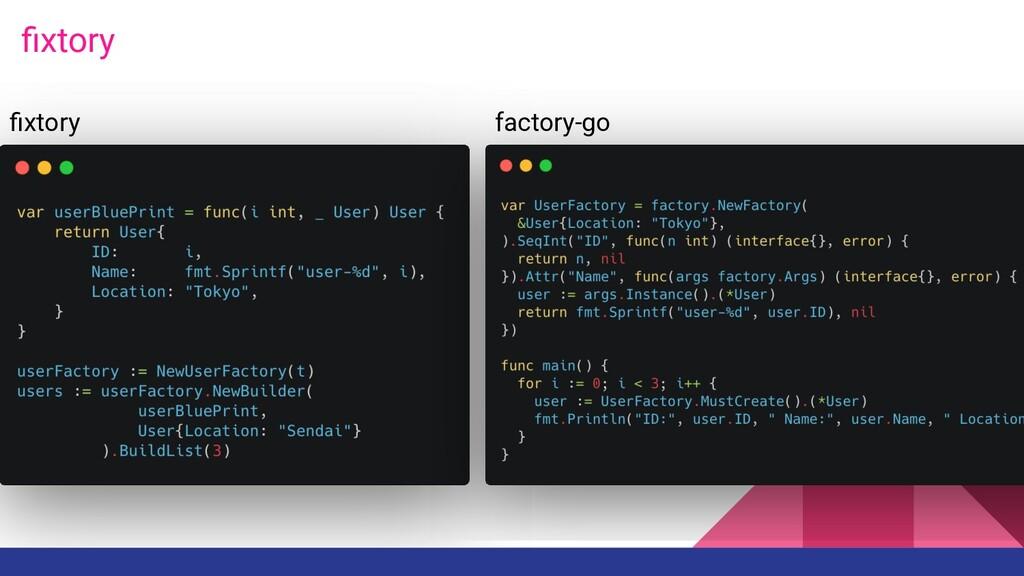 fixtory fixtory factory-go