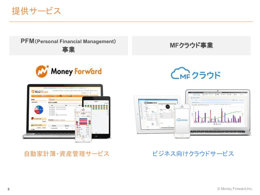 提供サービス PFM(Personal Financial Management) 事業 自動...