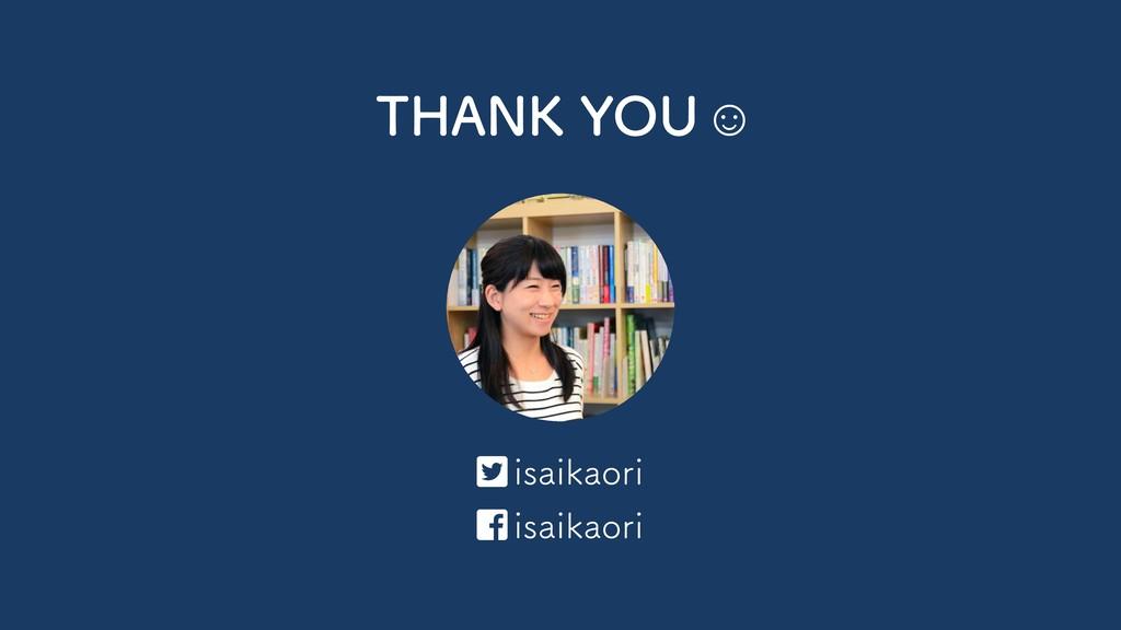 THANK YOU ☺   isaikaori isaikaori