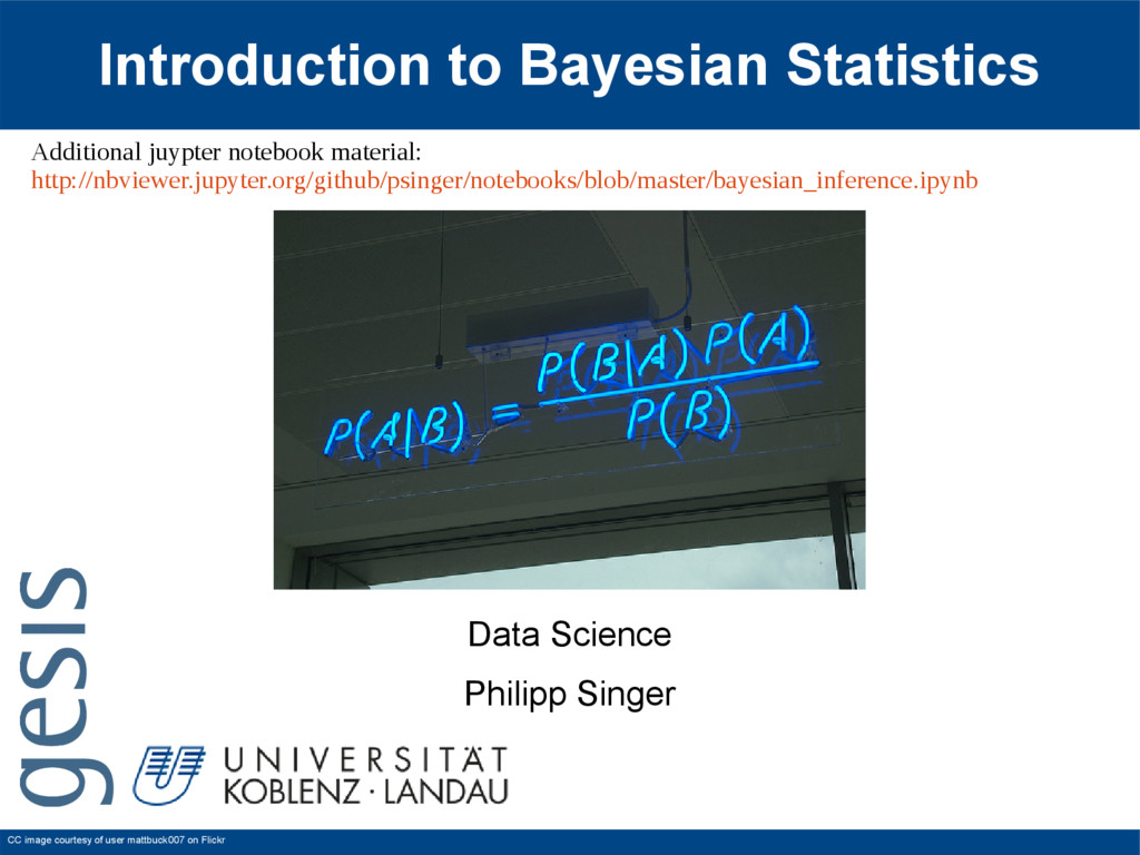 Introduction to Bayesian Statistics Data Scienc...