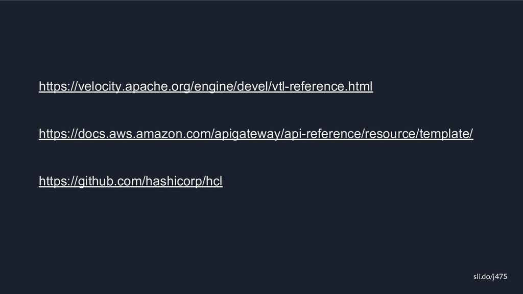 sli.do/j475 https://velocity.apache.org/engine/...