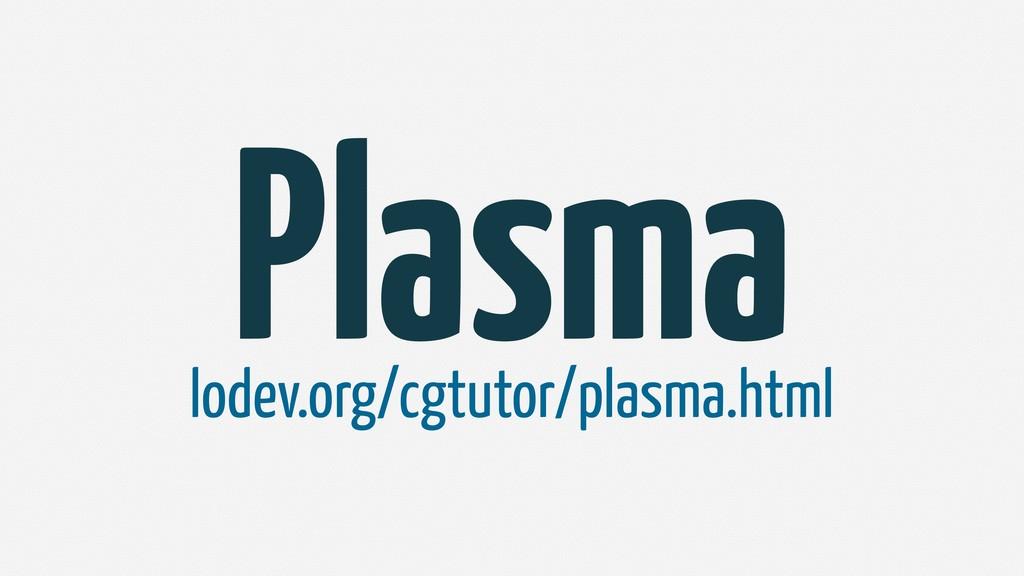 Plasma lodev.org/cgtutor/plasma.html