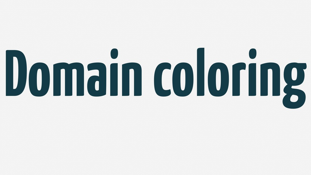 Domain coloring