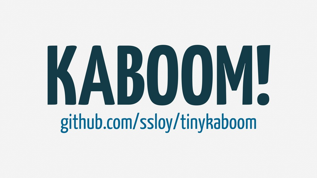KABOOM! github.com/ssloy/tinykaboom