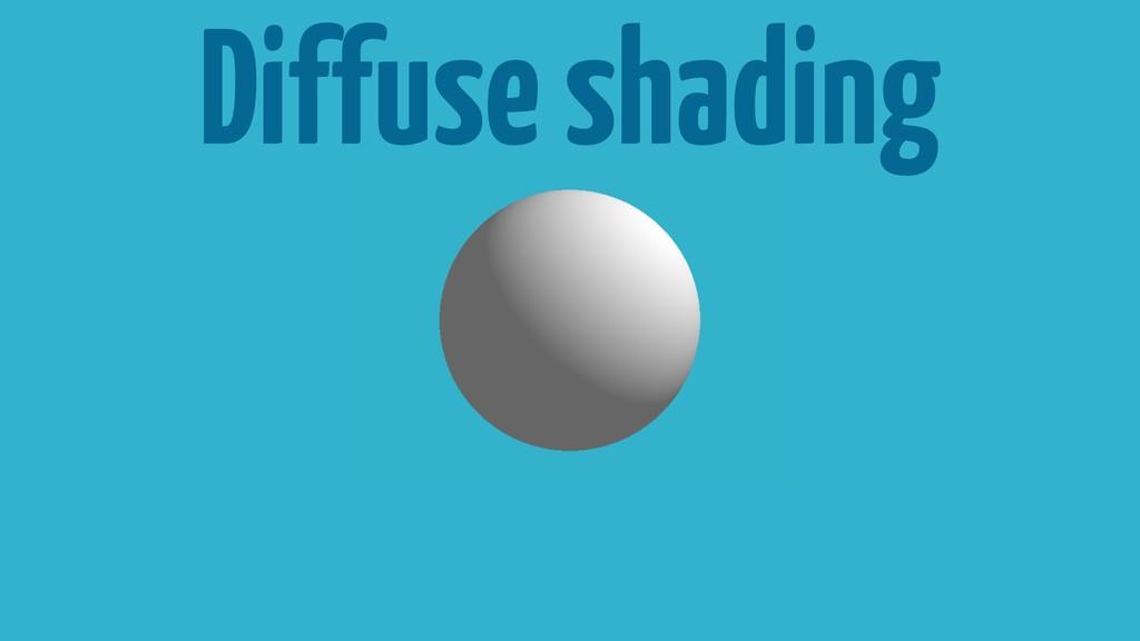 Diffuse shading