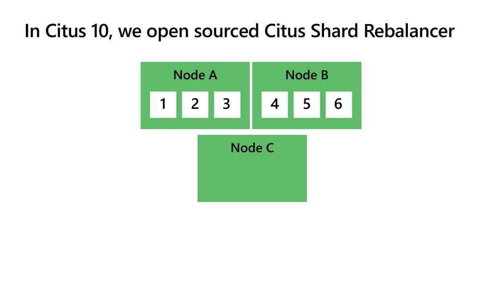 In Citus 10, we open sourced Citus Shard Rebala...