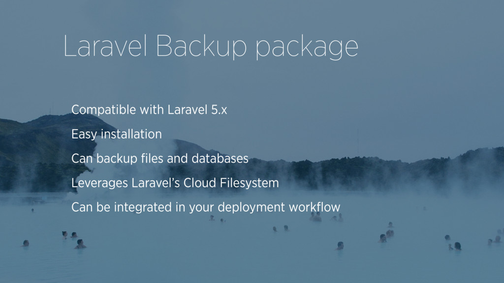 Compatible with Laravel 5.x Easy installation C...