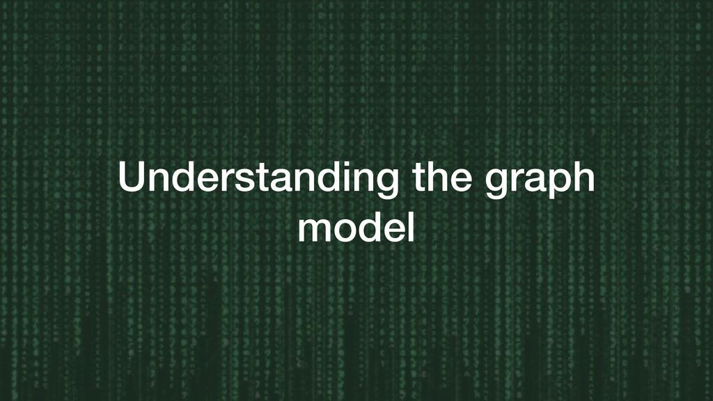 Understanding the graph model