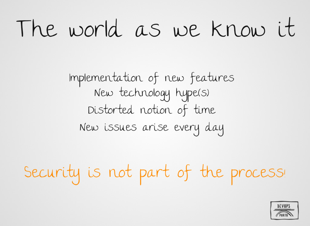 The world as we know it Implementation of new f...