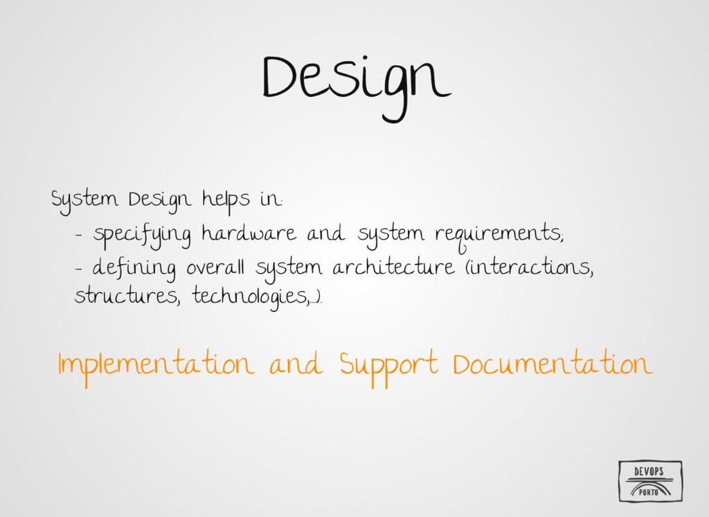 Design System Design helps in: - specifying har...