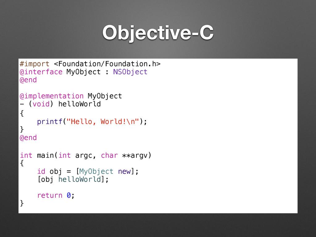 Objective-C #import <Foundation/Foundation.h> @...