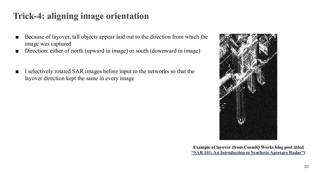 Trick-4: aligning image orientation ■ Because o...