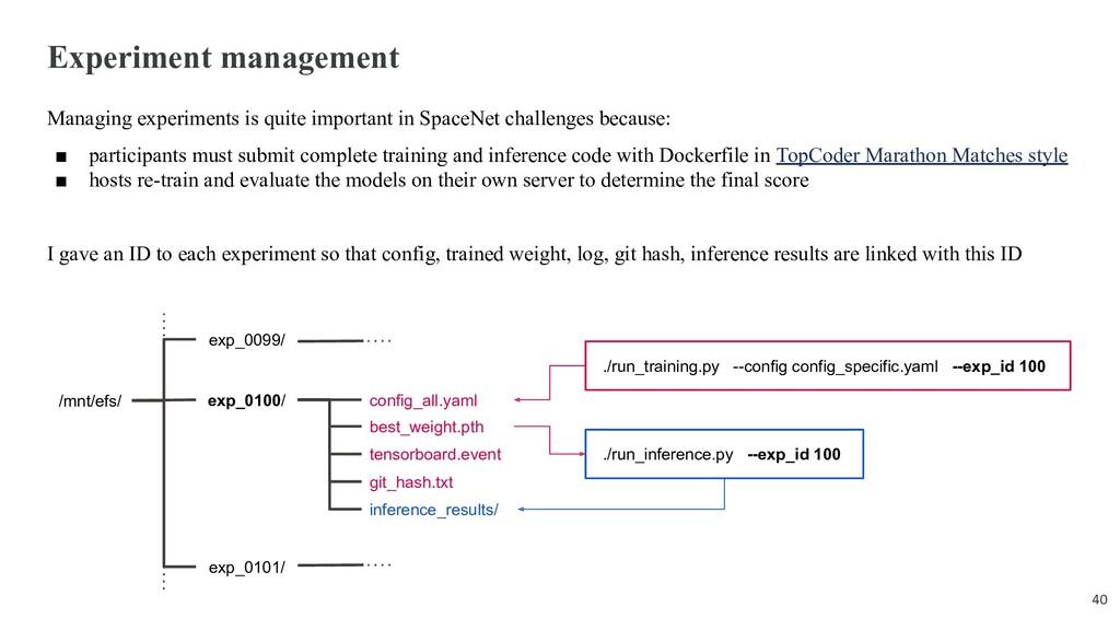 Experiment management Managing experiments is q...