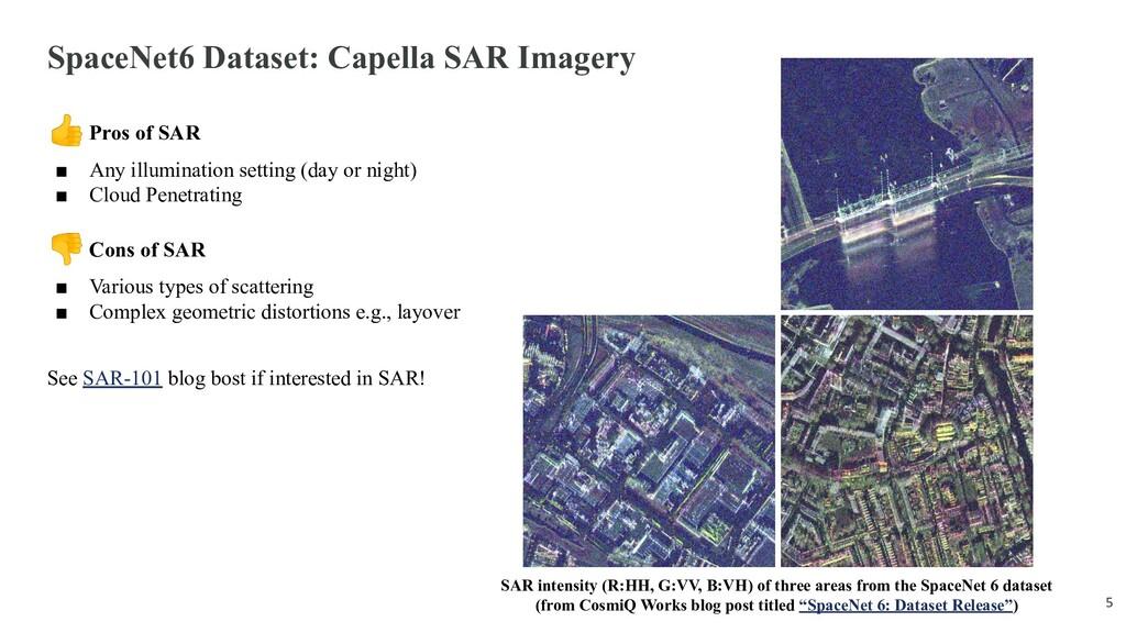 SpaceNet6 Dataset: Capella SAR Imagery Pros of ...