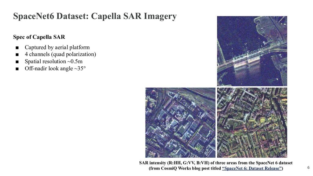 SpaceNet6 Dataset: Capella SAR Imagery Spec of ...