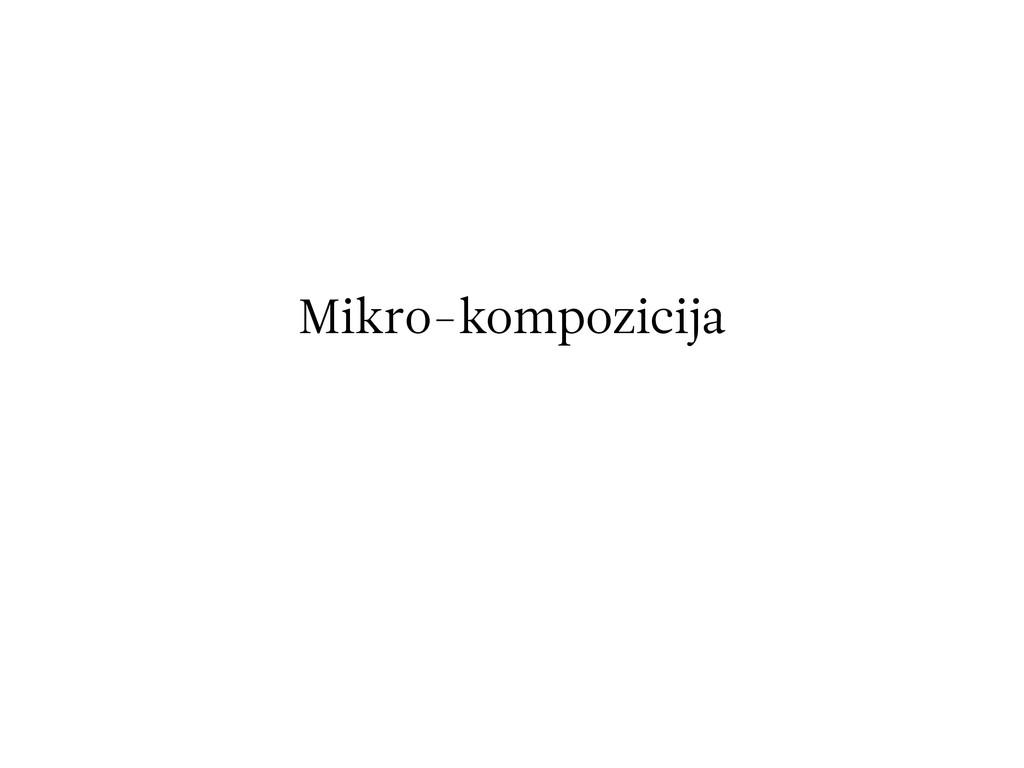 Mikro-kompozicija