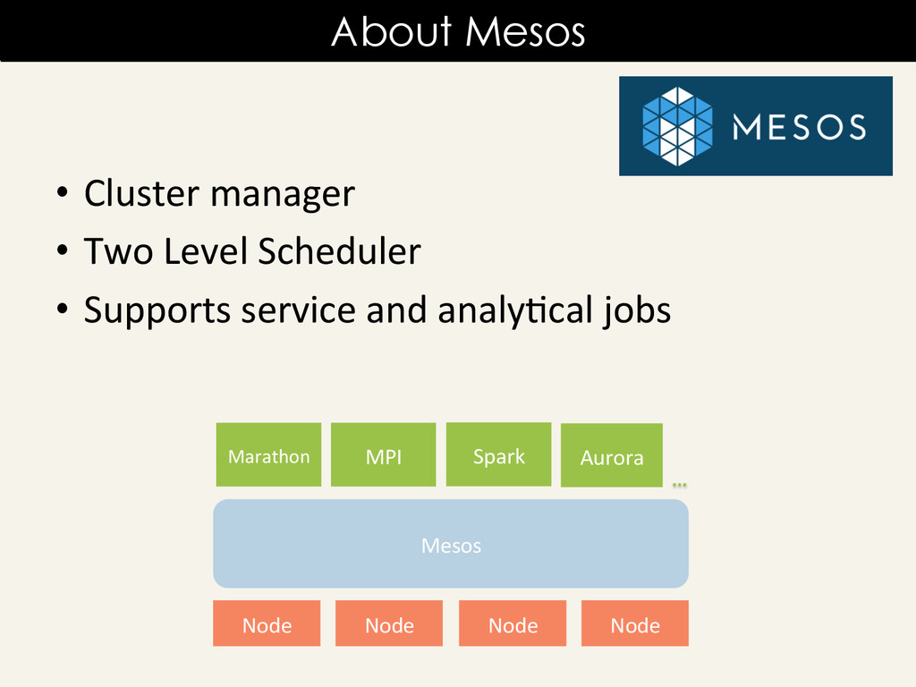 • Cluster manager  • Two Level Sc...