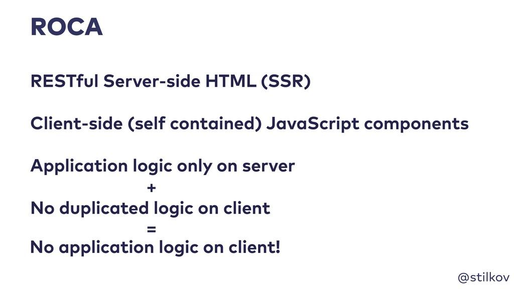 @stilkov ROCA RESTful Server-side HTML (SSR) Ap...
