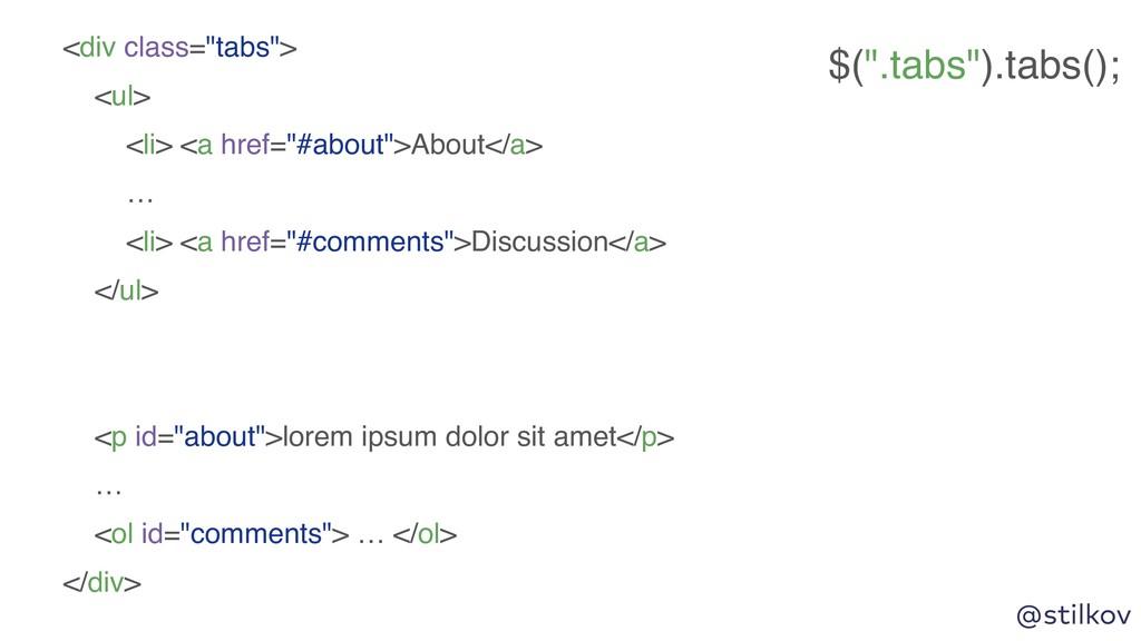 """@stilkov <div class=""""tabs""""> <ul> <li> <a href=""""..."""