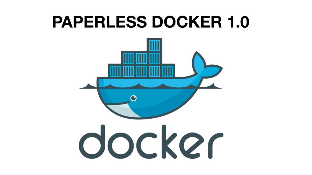 PAPERLESS DOCKER 1.0